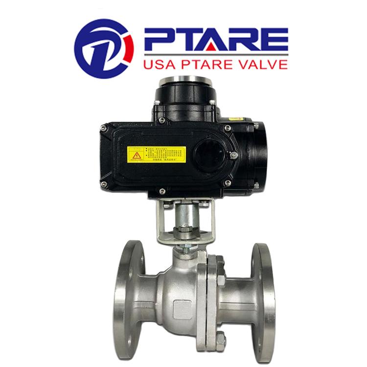 美国PTARE品牌进口法兰电动球阀