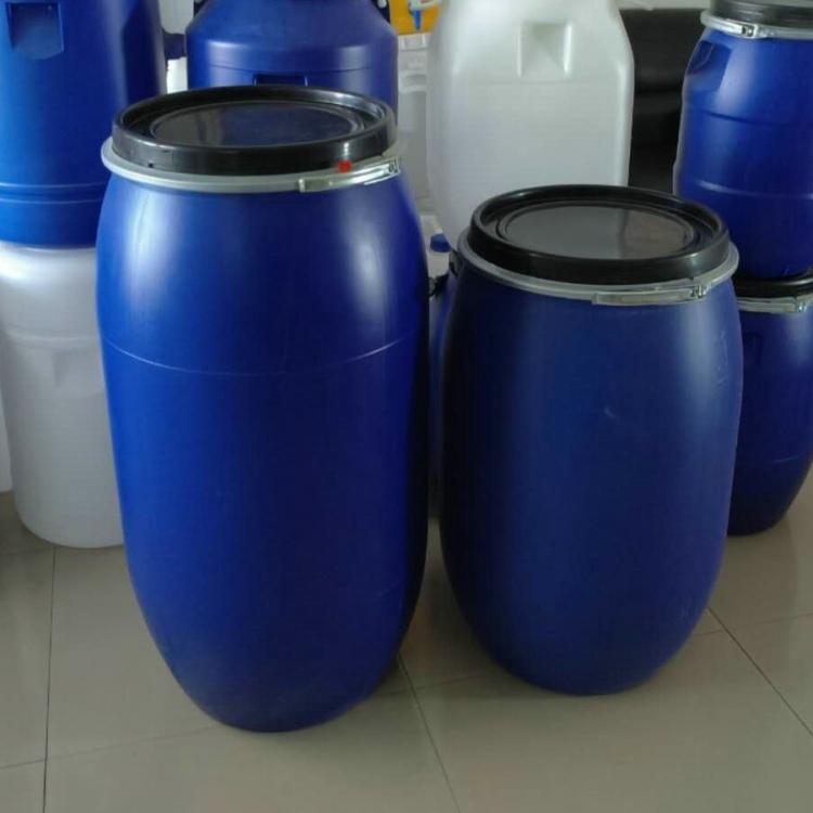 包箍160公斤塑料桶 开口160升法兰塑料桶