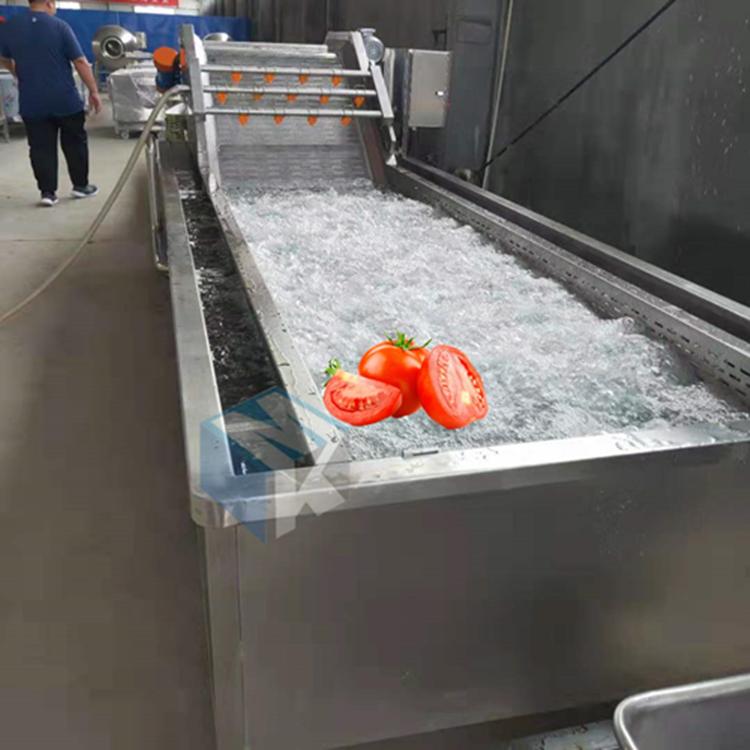 全自动铁皮西红柿专用清洗机 番茄酱加工清洗流水线设备厂家直销