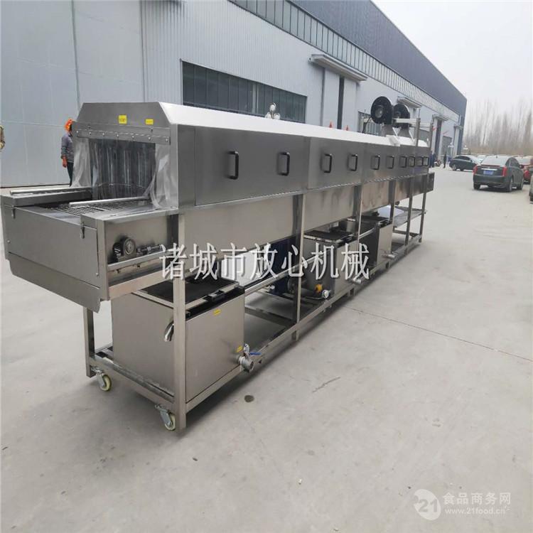 放心机械 三段水海鲜盘子清洗设备 FXD-6000