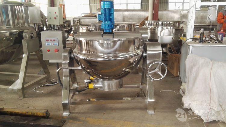 电加热夹层锅厂家直销   可倾带搅拌电加热夹层锅 夹层锅批发