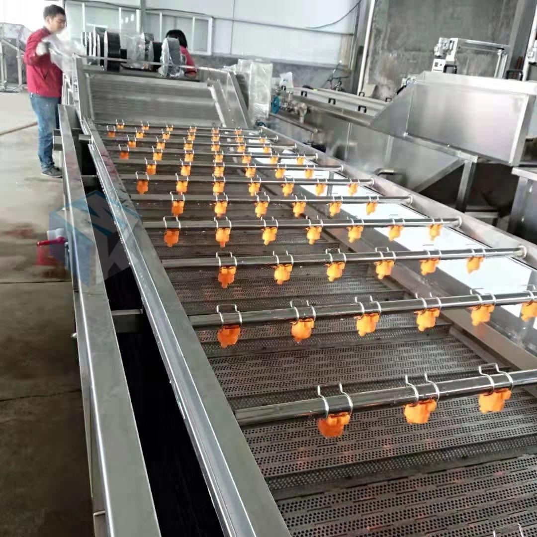 连续式天麻高压清洗机 药材加工清洗蒸煮流水线设备厂家价格