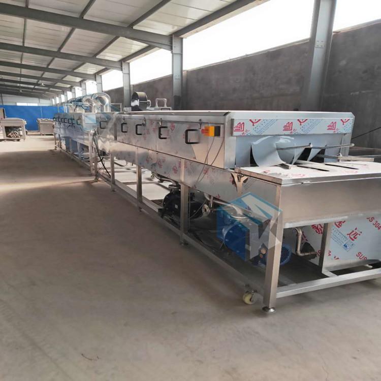 全自动隧道式肉制品周转箱专用清洗机胶筐胶箱清洗烘干机生产厂家