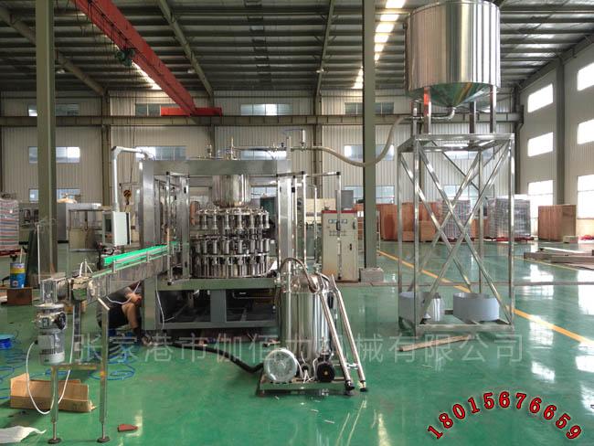 瓶装饮料自动灌装设备 玻璃瓶果汁饮料生产线