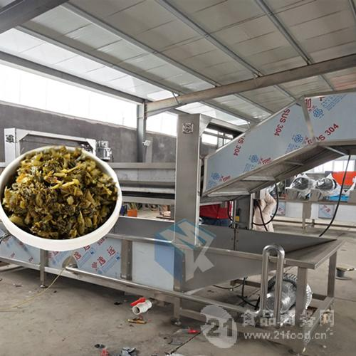 供应全自动雪菜专用清洗机 雪里红腌制菜脱盐清洗设备价格