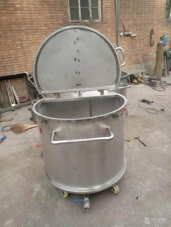 食品蒸煮设备带盖煮锅