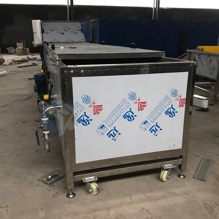 连续式速冻芥菜专用漂烫杀青流水线 全自动蔬菜加工预煮护色机器