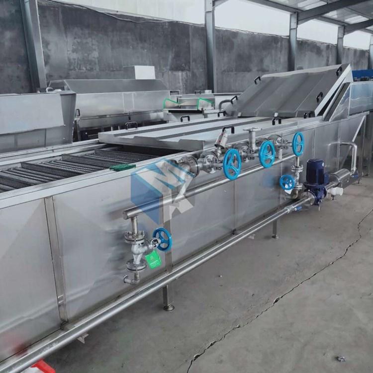 连续式环保型扇贝深加工蒸汽蒸煮机 贻贝开口破壳蒸煮流水线