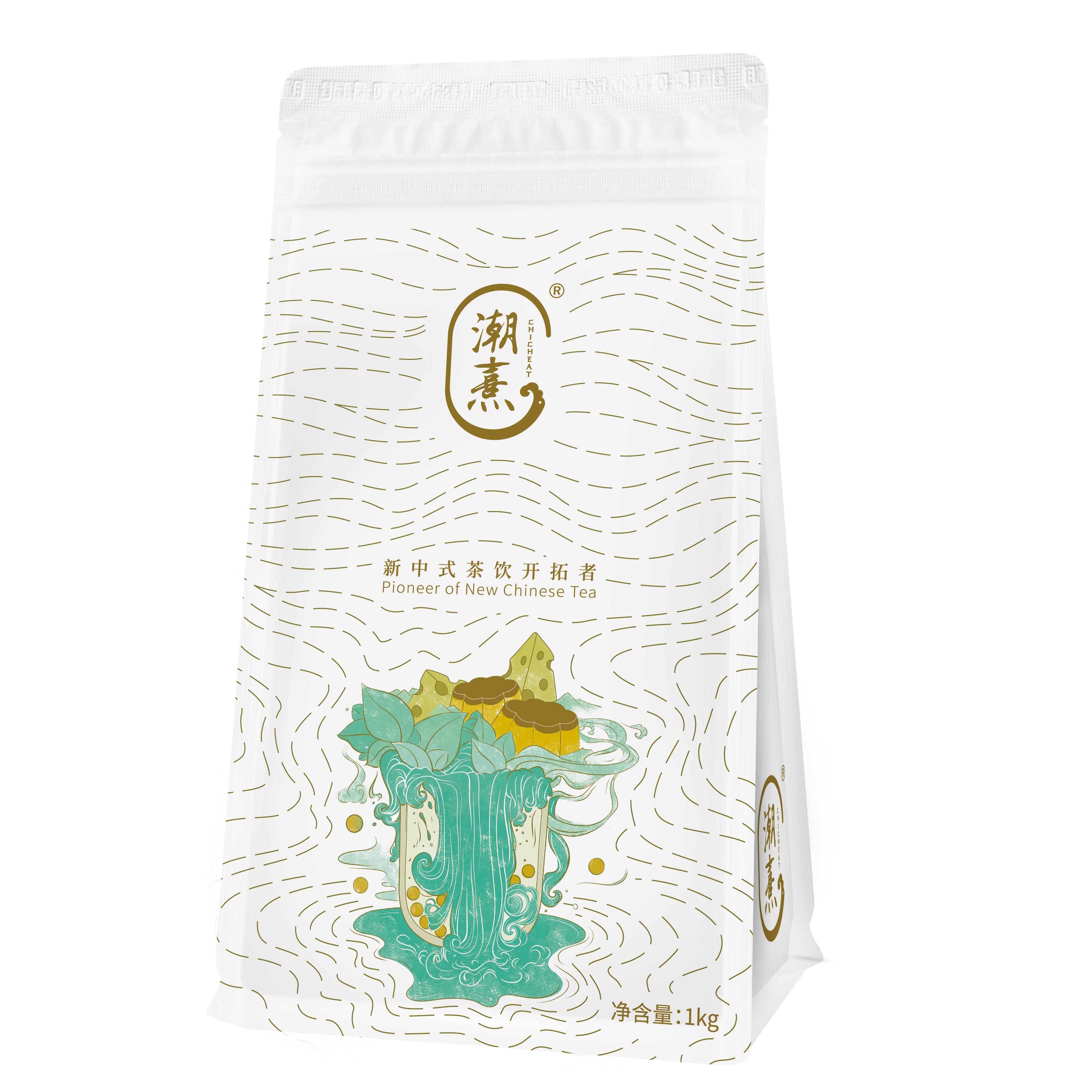 潮熹免煮豆腐布丁粉1kg*25包/箱 奶茶粉