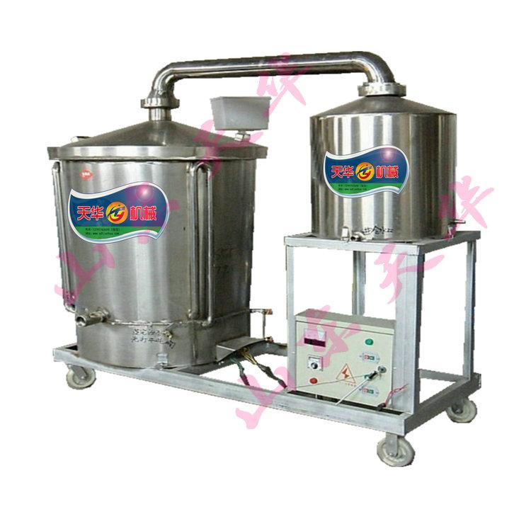 不锈钢移动式酿酒机生料液态蒸酒设备