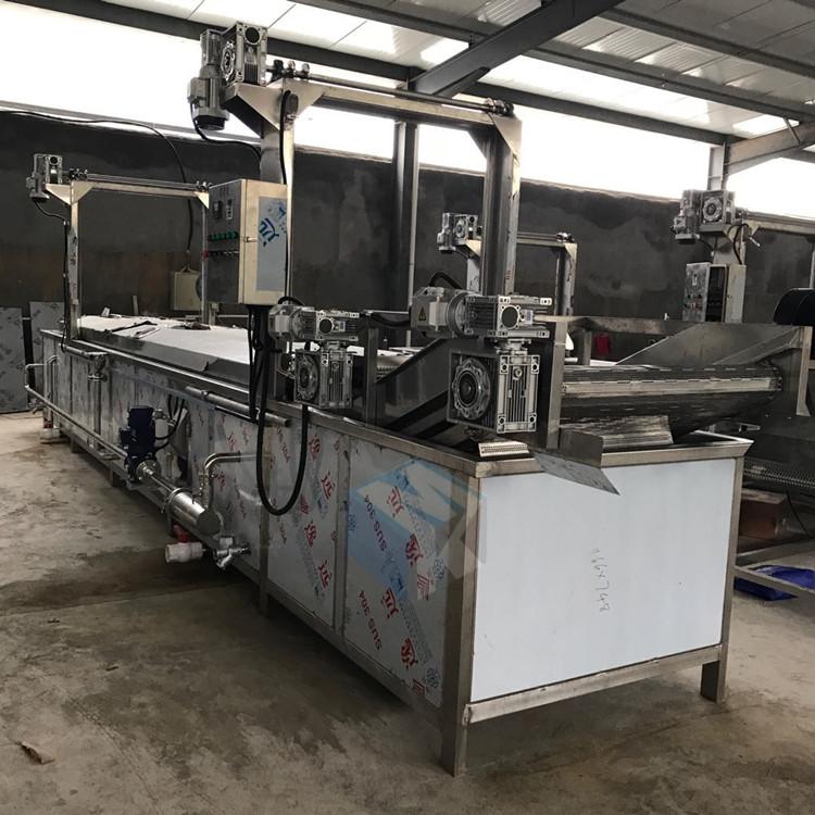 全自动速冻扇贝加工漂烫机 海螺肉生产预煮流水线 海虹蒸煮机