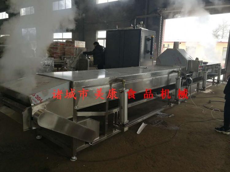 供应全自动中药材黄栀子深加工清洗蒸汽杀青流水线设备便宜
