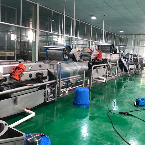 厂家供应学生餐净菜加工切割清洗风干成套流水线 净菜加工设备