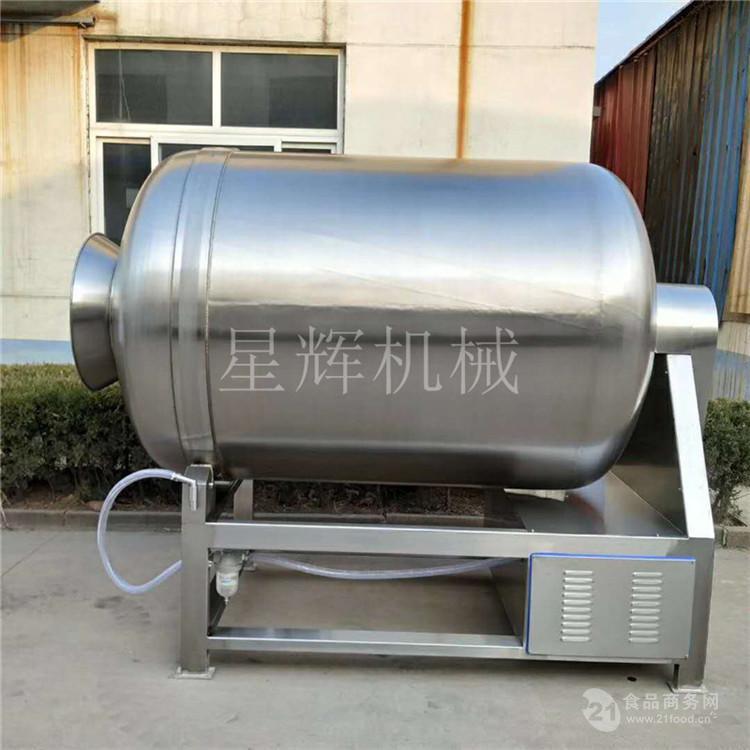 鸡羊牛肉腌制搅揉机 大型变频真空滚揉机 腊味腌制真空拌料机厂家