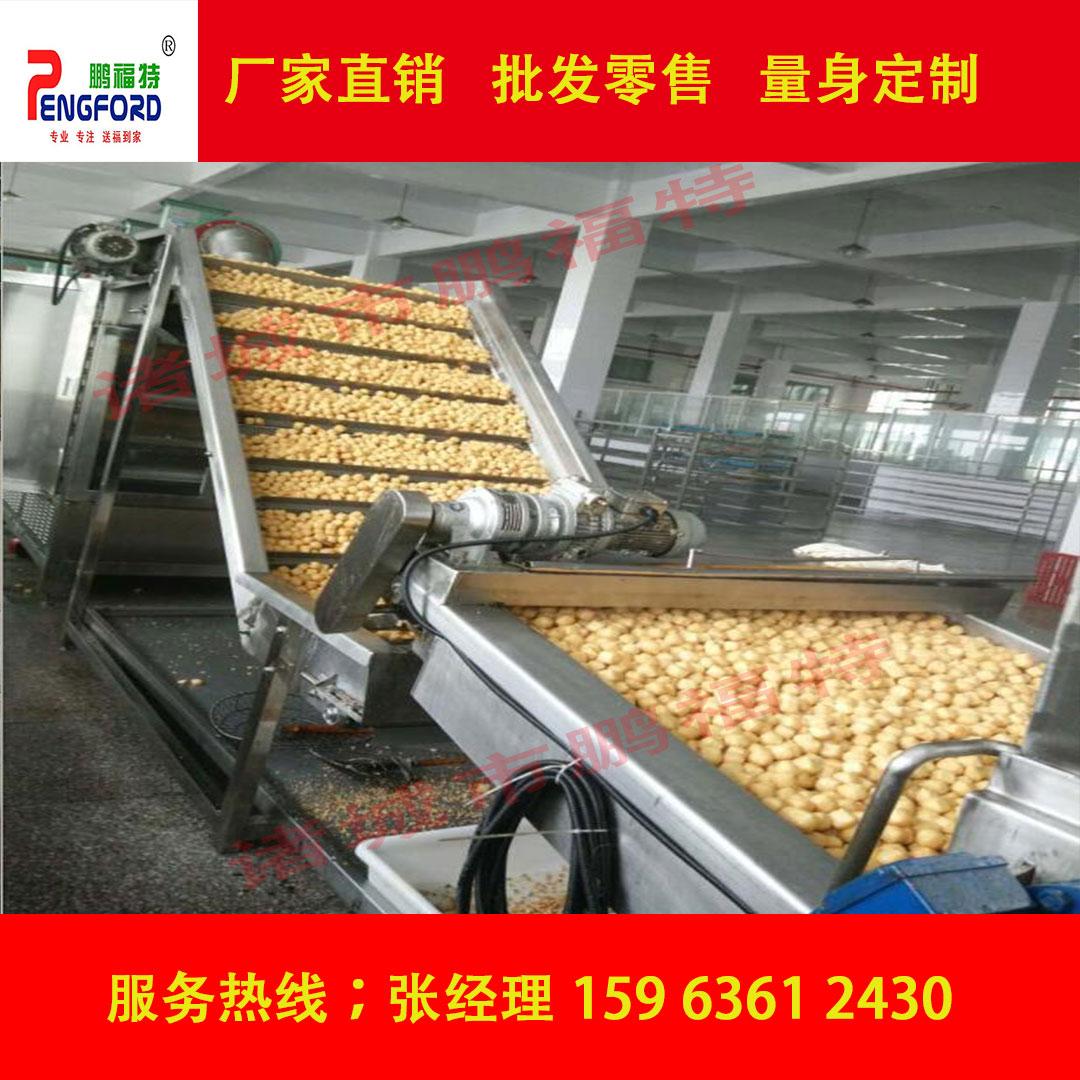 新型豆泡油炸机 油豆腐专用生产线 油炸机厂家