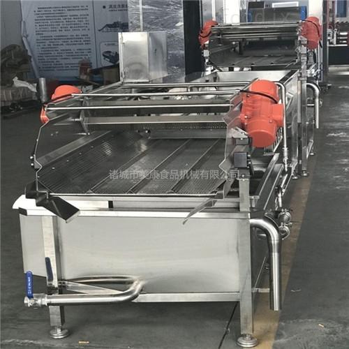 美康专业生产大型酱菜腌制清洗机 蔬菜震动沥水清洗线直销商
