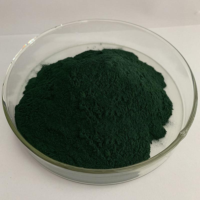 螺旋藻粉墨绿色颜色