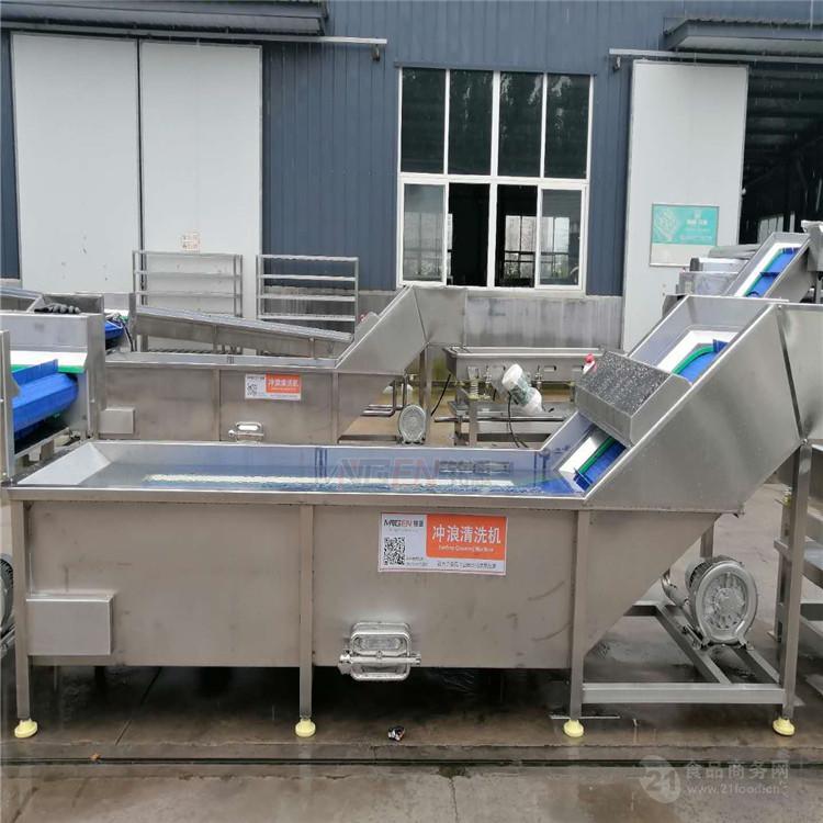 MEQX5000辣椒氣泡清洗機 櫻桃清洗機 瓜果清洗設備