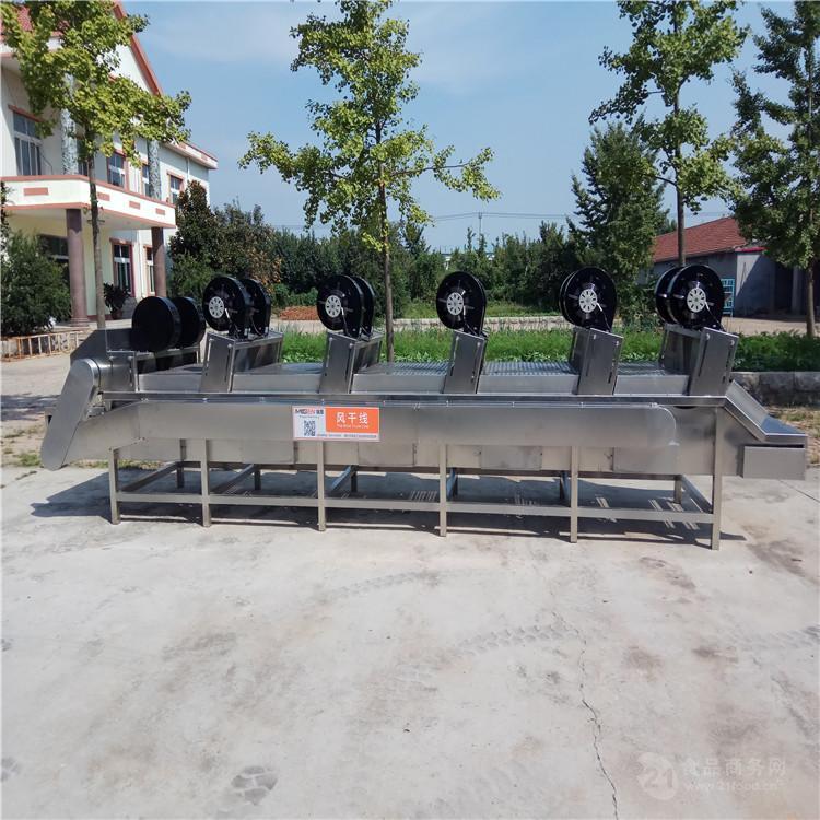 定製款風幹機設備 水果清洗風幹線 紅棗清洗風幹流水線