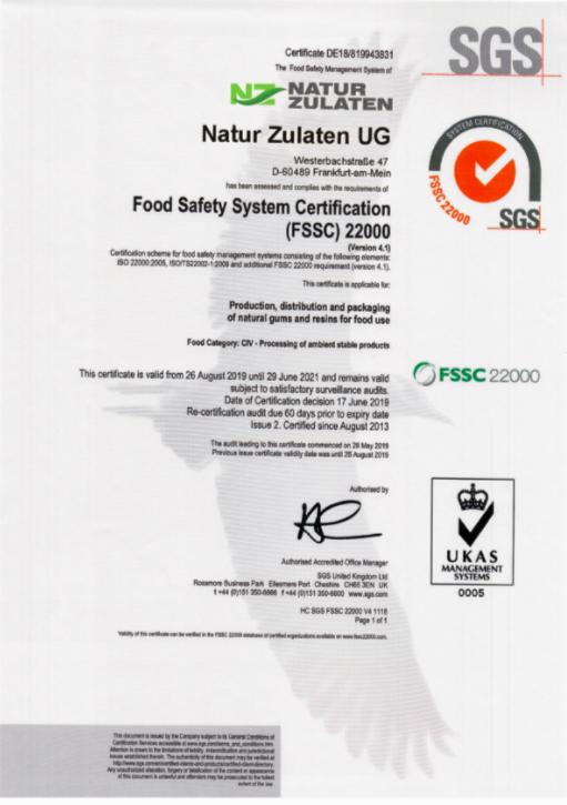 食品安全体系认证(FSSC)22000
