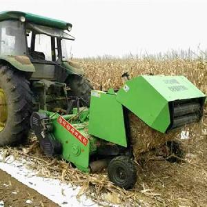 陜西拖拉機懸掛式玉米秸稈粉碎打捆機 1.3米