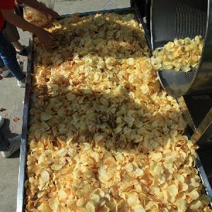 小型土豆片油炸机 鲜切土豆片油炸生产线加工设备