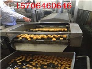 美林厂家定制油炸食品生产线 全自动油炸流水线