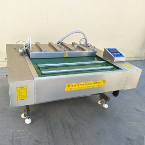 滚动式有机鲜食速冻糯玉米真空包装机 熟玉米自动连续封口机