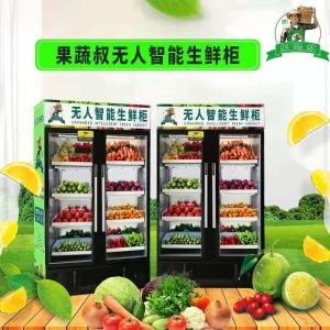 無人售貨機代理加盟,無人果蔬制冷保鮮售貨機,小區無人賣菜機