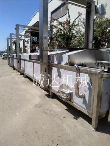 鱿鱼500型解冻漂烫线清洗流水线设备厂家