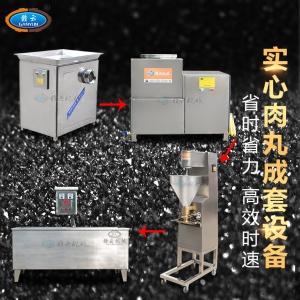 新鮮豬肉丸加工機器全套做肉丸的機器