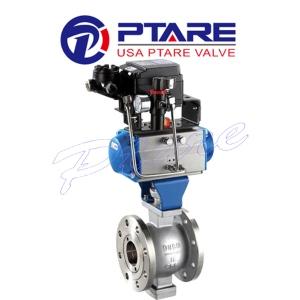 美国滨特尔PTARE品牌 进口气动V型球阀