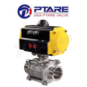 美国滨特尔PTARE品牌『进口气动卡箍球阀』 快装式球阀