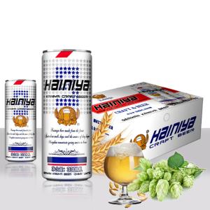 礼盒纤体罐精酿啤酒代理/330毫升白啤易拉罐啤酒招商