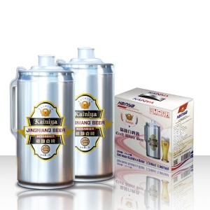 2升桶装精酿啤酒/精酿白啤啤酒诚招吉林白城供货商