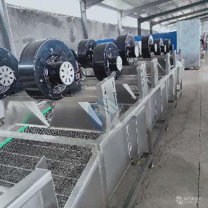 專業生產全自動5米梨清洗除水風干機 梨汁飲料加工清洗風干線