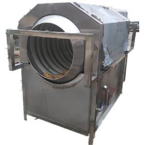 毛刷高压喷淋油污袋洗袋机 滚筒清洗机