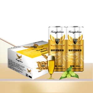 纤体罐啤酒批发/新款330毫升易拉罐啤酒供应加盟