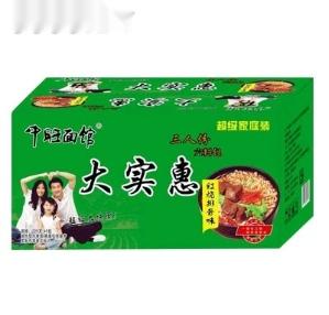 中旺面馆方便面红烧排骨味(箱)