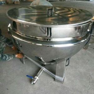 可倾斜式带保温夹层锅 不锈钢蒸煮夹层锅 肉类熟食卤煮锅