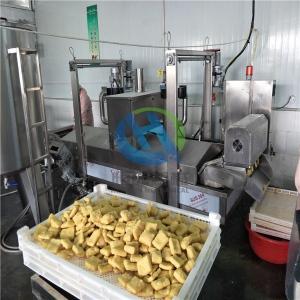 大型商用臭豆腐油炸生产线 可持续生产的整套臭豆腐油炸设备