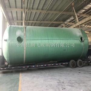 100立方玻璃鋼化糞池尺寸直徑3.2m-長12.45m