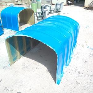 冶金玻璃鋼輸送機防雨罩潤飛定做玻璃鋼皮帶防護罩報價