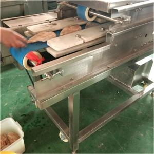 义康牌QPJ-2000型鱼肉切片机  鸡排加工设备