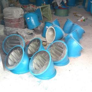 排煙風機防雨罩 正壓風機防雨彎頭 45度60度90度風機防雨罩廠家