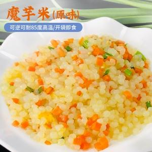 魔芋米代餐飯即食速食方便米飯魔芋拌飯食品