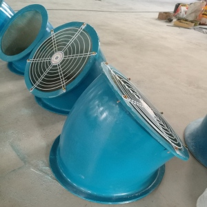 軸流風機90度防雨罩直徑500mm不銹鋼防蟲網壁式排風機防雨彎頭