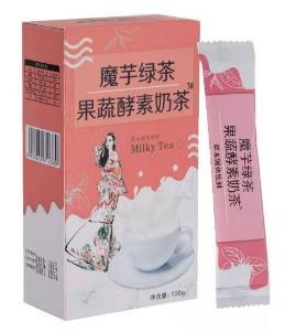 魔芋綠茶果蔬酵素奶茶價格標價好多錢一盒