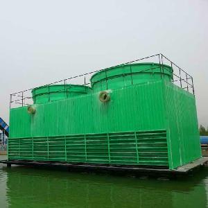 方形逆流式冷卻塔GFNL節能型鋼結構框架方形逆流式玻璃鋼冷卻塔