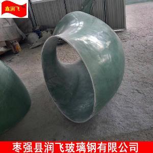 FRP45度彎頭DN200玻璃鋼法蘭生產廠家